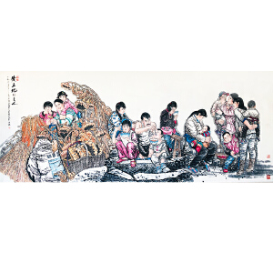 中国美术家协会顾问 刘文西《黄土地的主人》DW187