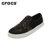 【下单立减120】Crocs卡洛驰 男士帆布鞋 都会街头迷彩休闲鞋 透气板鞋|203651 都会街头迷彩男士便鞋
