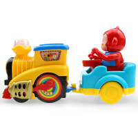 卡通小火车轨道 宝宝男孩女孩儿童电动3高铁2-3-6岁益智玩具车 豪华轨道火车(送2节5号电池) 官方标配