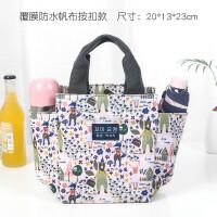带饭手提袋子帆布妈咪包饭盒包韩版午餐便当包拎装饭盒袋的手提包