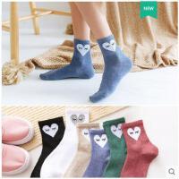 袜子女秋季纯棉袜中筒袜堆堆袜韩国韩版学院风日系可爱秋冬长袜潮