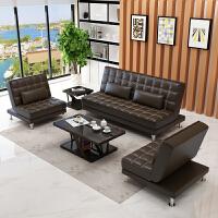 办公沙发简约现代会客办公室沙发接待商务茶几组合多功能沙发床