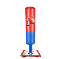 拳击沙袋 儿童拳击不倒翁立式套装小孩子少年男孩拳击散打家用健身器材 1.35米 红色 牛津减震
