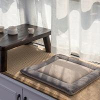 透气坐垫地台垫椅垫加厚方形飘窗坐垫蒲团榻榻米垫子坐垫日式亚麻