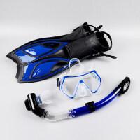 浮潜装备潜水三宝 面镜 全干式呼吸管硅胶近视潜水镜 浮浅脚蹼