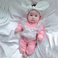 婴儿连体衣服宝宝新生儿0岁5月春季春外出服睡衣新年
