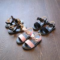 夏季女童凉鞋公主鞋豹纹宝宝鞋儿童沙滩鞋女童鞋