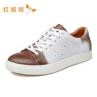 红蜻蜓男鞋秋季新款功能鞋圆头休闲运动潮流低跟男单鞋板鞋-