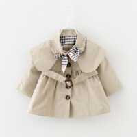 春秋女童洋气风衣外套中长款女宝宝时尚韩版春装婴儿0小童1-3岁潮