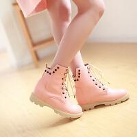 彼艾2014冬季小短靴 时尚简约系带女士雪地靴休闲女靴子
