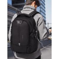 青年旅行男士商务电脑包 韩版休闲大容量背包男双肩包 时尚潮流书包USB便捷充电包包