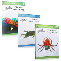 英文原版绘本 儿童图画书 Eric Carle 艾瑞.卡尔经典作品3本套装 The Very Lonely Firefly 好寂寞的萤火虫 The Very Quiet Cricket 好安静的蟋蟀
