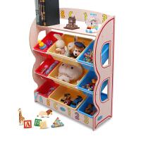 物有物语 玩具收纳架 实木儿童玩具收纳架大号幼儿园书架宝宝整理架柜箱