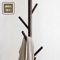 北欧简约实木衣帽架落地衣架卧室挂衣架CS905多种颜色 咖啡色 橡木