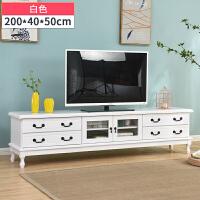 实木电视柜卧室现代简约地柜小户型客厅迷你美式茶几电视机柜组合 整装