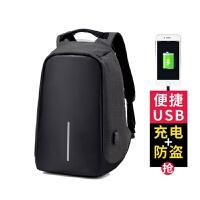 双肩包男女多功能充电防盗背包笔记本15.6寸17商务电脑包充电书包 16寸经典黑