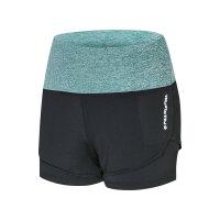 夏季健身女士假两件 跑步速干弹力休闲裤 瑜伽防走光运动短裤