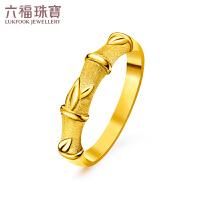 六福珠宝�职�系列青梅竹马黄金戒指男款情侣对戒闭口计价GDG40050