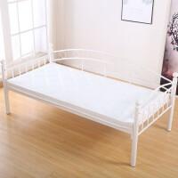 环保铁艺床小床拼接大床加宽床边床婴儿单人床带护栏 190*90床+升级款环保椰棕床垫 环保无胶水 其他 带