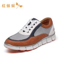 红蜻蜓男鞋春夏新款男运动鞋撞色时尚透气系带舒适运动男休闲鞋