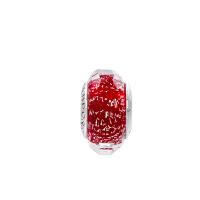 PANDORA潘多拉 红色闪烁琉璃925银切割面穆拉诺琉璃串饰791654