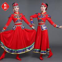 新款蒙古族大裙摆舞蹈演出服女装内蒙古大草原民族舞表演服装长裙