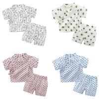 婴儿套装女宝宝3个月新生儿6夏季休闲洋气两件套睡衣家居服