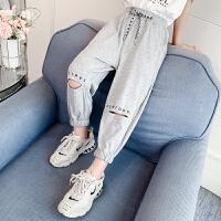 女童裤子夏装长裤夏季薄款外穿运动打底裤儿童裤