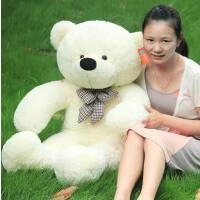 咔噜噜公仔 领结泰迪熊毛绒玩具熊大号布娃娃生日礼物 抱抱熊公仔情人节礼物