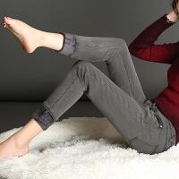 加绒牛仔裤女裤加厚大码弹力女式显瘦紧身铅笔小脚秋冬季高腰长裤