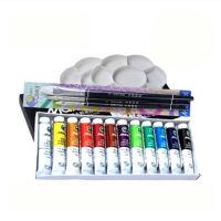 马利12色18色24色36色水粉颜料套装+调色盘+水粉笔