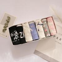 草莓7条礼盒装棉卡通少女蕾丝女士内裤中低腰大码星期裤