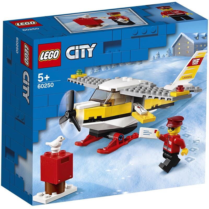 【当当自营】LEGO乐高积木 城市组City系列 60250 邮政飞机 玩具礼物