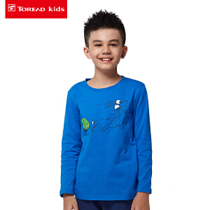 探路者童装Toreadkids男童印花图案长袖T恤