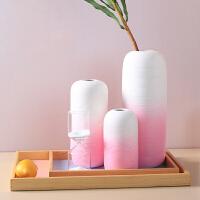 陶瓷花瓶现代简约客厅创意插花摆件个性家居装饰品可爱花艺摆设