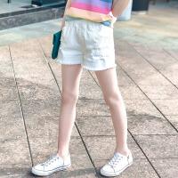 女童短裤夏季儿童白色破洞牛仔裤外穿中大童百搭夏装