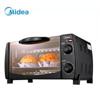 美的(Midea)T1-L108B 家用多功能迷你小烤箱 10升家用容量 双层烤位