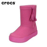 【秒杀价 仅限一天】Crocs童鞋靴子卡骆驰女童短靴春秋小芮莉洛基靴儿童冬靴|203751 小芮莉洛基靴