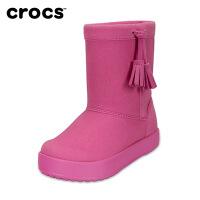 Crocs童鞋靴子卡骆驰女童短靴春秋小芮莉洛基靴儿童冬靴 203751 小芮莉洛基靴