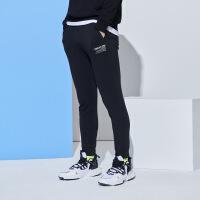 【618到手价:54】361运动裤男春季宽松束脚收口小脚裤子黑色跑步休闲卫裤针织长裤男装