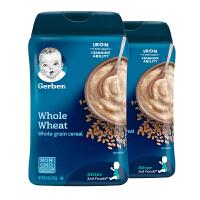 保税区发货 Gerber嘉宝 2段全麦谷物米粉 二段6个月以上 227g*2罐 海外购