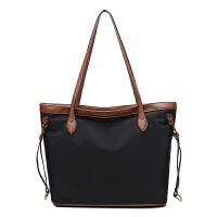 大包包2018新款大容量妈咪包单肩包牛津布防水包尼龙女包托特包 咖啡色