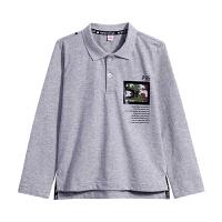 【3件5.5折到手价:48.4】小猪班纳童装男童t恤春装中大童上衣儿童长袖POLO衫