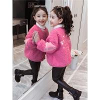 韩版加厚女孩洋气上衣冬季儿童保暖夹克女童冬装加绒外套
