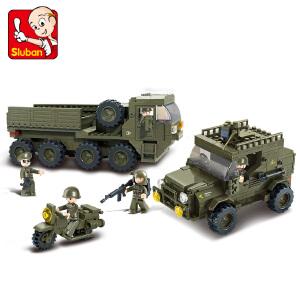【当当自营】小鲁班陆军部队2军事系列儿童益智拼装积木玩具 后勤部队M38-B0307