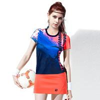 羽毛球服男女短袖套装速干修身运动上衣加短裙裤比赛团队队服
