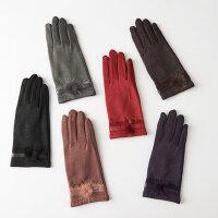 可触控手套开车防滑骑车性淑女款驾驶手套女秋冬保暖