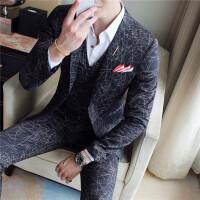 秋季男士休闲西装韩版修身小西服英伦发型师条纹青年单西外套潮流