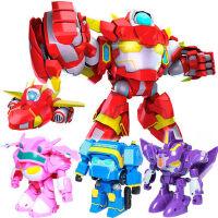 开心超人玩具正义联盟机车侠小心花心粗心变心甜形机器人全套男孩