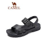 camel骆驼户外休闲两穿凉鞋男真皮百搭凉拖鞋2019夏季新款防滑复古鞋子